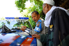 Indonesian Police Royalty Free Stock Image