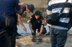 INDONESIAN POLICE BOMB SQUAD Royalty Free Stock Images