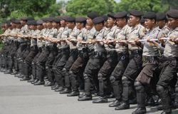 INDONESIAN POLICE HUGE UNSOLVED COLD CASES Royalty Free Stock Images