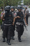INDONESIAN POLICE MOBILE BRIGADE Stock Images