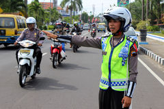 Indonesian Police Royalty Free Stock Photography