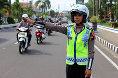 Indonesian Police Stock Image