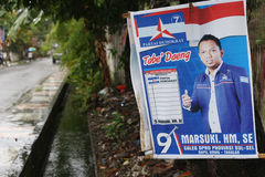 Indonesian political poster for 2014 election Royalty Free Stock Photo