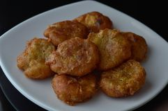 Indonesian potato fritters or perkedel royalty free stock photo