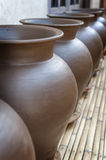 Indonesian Pottery. Some fine examples of pottery made on the Indonesian island of Lombok. This island is known for its excellent handicrafts, especially pottery Royalty Free Stock Image