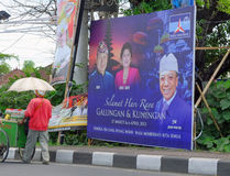 Indonesian president on a billboard Royalty Free Stock Photo