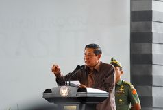 INDONESIAN PRESIDENT YUDHOYONO Royalty Free Stock Photo
