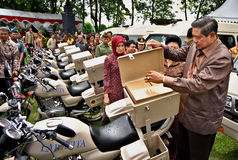 INDONESIAN PRESIDENT YUDHOYONO Stock Photo