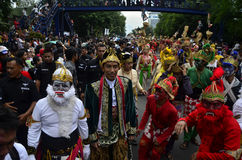 INDONESIAN PUPPET CARNAVAL Stock Photo