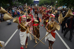 INDONESIAN PUPPET CARNAVAL Stock Images