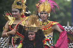 INDONESIAN PUPPET CARNAVAL Royalty Free Stock Images