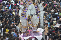 INDONESIAN PUPPET CARNAVAL Royalty Free Stock Photo