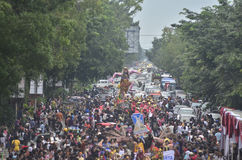 INDONESIAN PUPPET CARNAVAL Stock Image