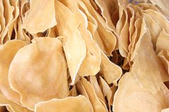 Indonesian Raw Crackers or Kerupuk Royalty Free Stock Photo
