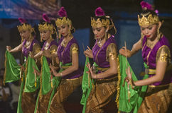 INDONESIAN ROYAL CLASSIC DANCE Royalty Free Stock Image