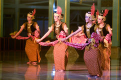 INDONESIAN ROYAL CLASSIC DANCE Royalty Free Stock Photos