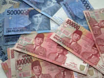 Indonesian Rupiah. Indonesian money, fifty thousand rupiah and one hundred thousand rupiah stock images
