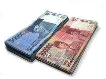 Indonesian Rupiah. Indonesian money, fifty thousand rupiah and one hundred thousand rupiah royalty free stock image