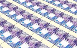Indonesian rupiah bills stacks background. Stock Photos