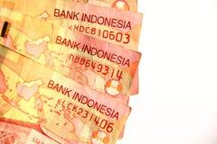 Indonesian Rupiah Close up. Royalty Free Stock Photo