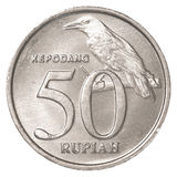 50 Indonesian rupiah coin. Isolated on white background Stock Photos