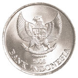 Indonesian rupiah coin. Isolated on white background Stock Image