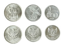 Indonesian Rupiah Coins Royalty Free Stock Images