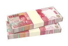 Indonesian rupiah money isolated on white background. Royalty Free Stock Photography