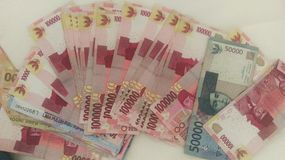 Indonesian Rupiah. A photo of some indonesian Rupiah Stock Image