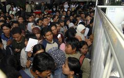 INDONESIAN RUPIAH SIX YEARS LOW DROP Stock Photography