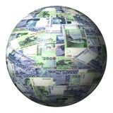 Indonesian Rupiah sphere Royalty Free Stock Image