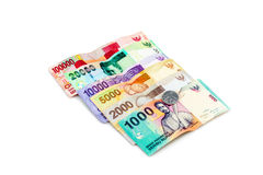 Indonesian Rupiah. On a white background Stock Images