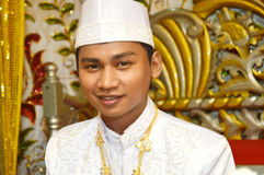 Indonesian's groom Royalty Free Stock Photo