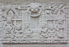 Indonesian's wall sculptures Royalty Free Stock Photography