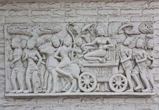 Indonesian's wall sculptures Royalty Free Stock Photo
