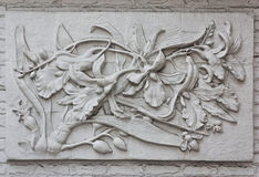 Indonesian's wall sculptures Stock Image