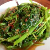 Indonesian Sambal Kangkong royalty free stock photos