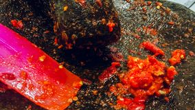 Sambal traditional food of Indonesian. royalty free stock photos