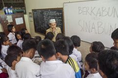 INDONESIAN SCHOOL LACK OF ELECTRICITY Stock Photos