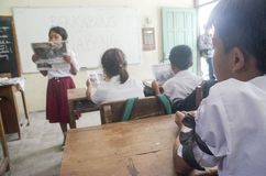 INDONESIAN SCHOOL LACK OF ELECTRICITY Stock Images