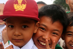 Indonesian schoolchildren Stock Photos