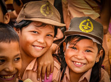 Indonesian schoolchildren Stock Images