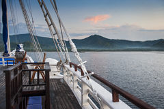 Indonesian Schooner Travel Stock Image