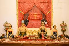 Indonesian sculptures of the sultan family Stock Photography