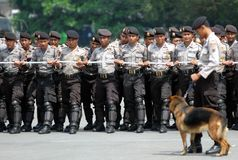 INDONESIAN SECURITY DRILL Stock Photos