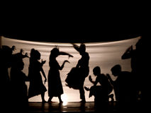 Indonesian Shadow play. Stories presented are usually mythical & morality tales. There is an educational moral to the plays which usually portray a battle royalty free stock photos