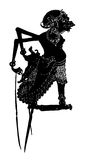 Indonesian Shadow Puppet. Shadow Puppet: typical indonesian shadow puppet in black color ;Vector Stock Image