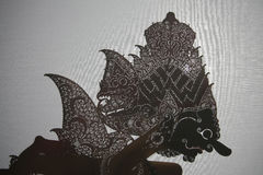 Indonesian shadow puppet theatre wayang kulit Royalty Free Stock Photos