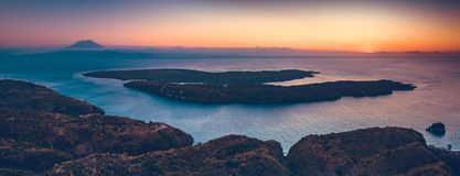 Indonesian shoreline, ocean. Panoramic overview. royalty free stock image