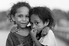 Indonesian sisters in Papua area Stock Images